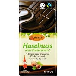 Zartbitter Schokolade mit Nüssen & Xylit (100g)