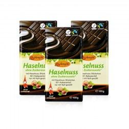 Sparpaket: 3x Schokolade mit Xylit & Nüssen