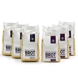 Brotbackmischungen Probierpaket: 3x hell + 3x mit Körnern (6x300g)
