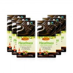 Sparpaket: 6x Schokolade mit Xylit & Nüssen