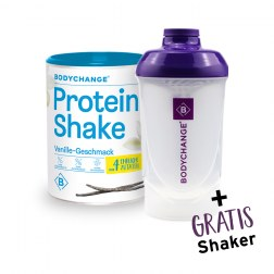 Sparpaket: Protein Shake (Vanille) + GRATIS Shaker