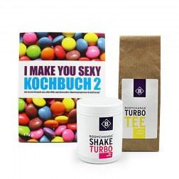 Sparpaket: Kochbuch 2 (B-Ware) + Shake-Turbo + Grüner Tee
