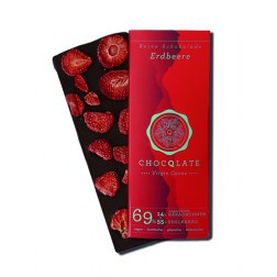 Schokolade mit Erdbeeren (75g)