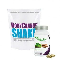 FIT - Sparpaket: 1x Protein-Shake (300g) + Grüntee-Zimt Kapseln (60 Kapseln)