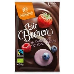 Bio Beeren in dreierlei Schokoladen (50g)