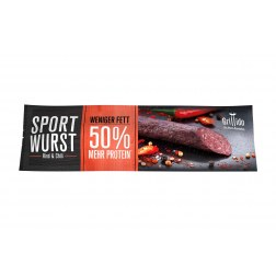 Sport Wurst - Rind & Chili mit 50% mehr Protein* - MHD 24.09