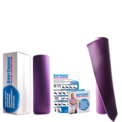 Sparpaket: Massagerolle (lila) + Trainingsmatte