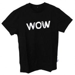 """Männer T-Shirt """"Wow"""" schwarz"""